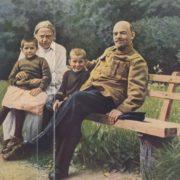 Krupskaya and Lenin in Gorki