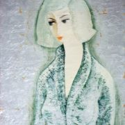 Lady. 1960s. Oil, canvas, silver