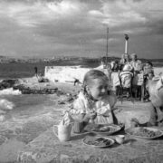 Lunch in the kindergarten by the sea. Sevastopol, 1944. Photo taken after the liberation of Sevastopol from the Nazis