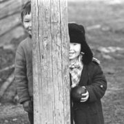 Mansi children. 1972 (Mansi - indigenous people living in Khanty–Mansia, Tyumen region)