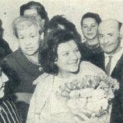 Meeting in the House of Actor. Left - composer Tamara Markova, above - Mikhail Yanshin, Vera Orlova, pianist Boris Mandrus (right)