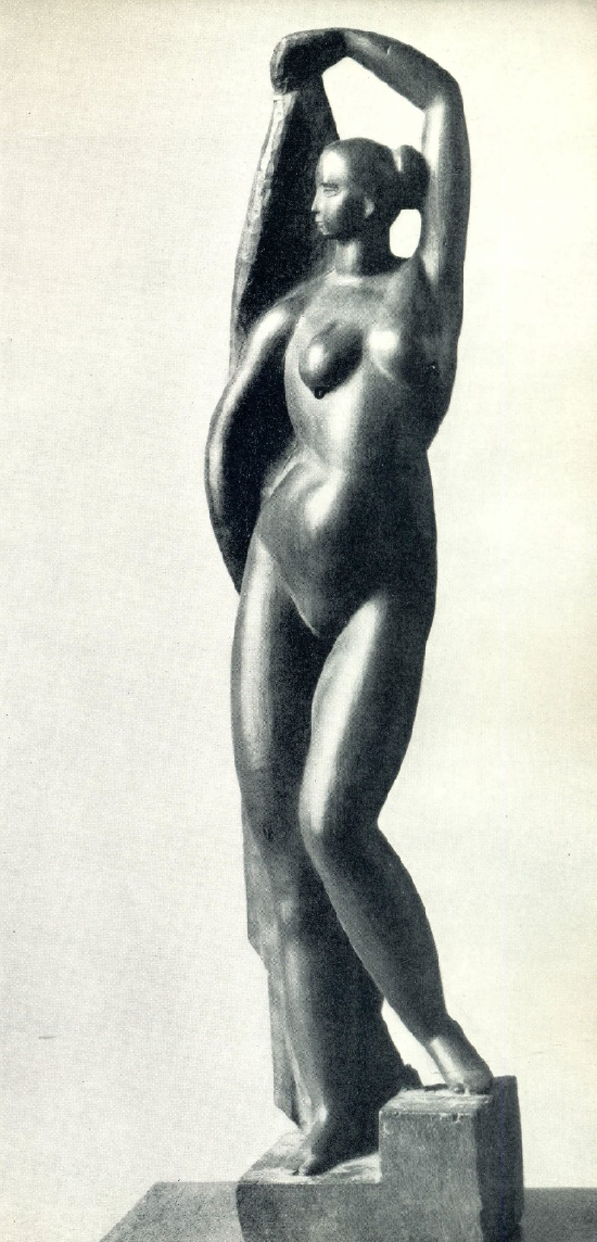 Naked girl. Wood. 1922