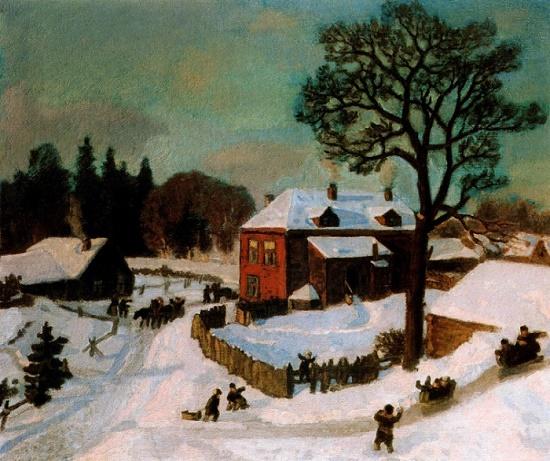 Soviet Russian landscape painter Nikolay Krymov