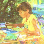 Portrait of daughter, 1981