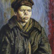 Portrait of homeless. 1925. Russian museum, St. Petersburg