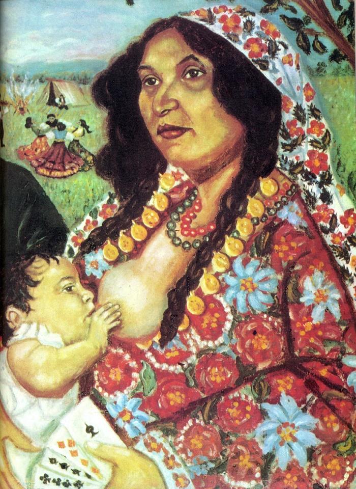 Pushkin with gypsies. 1973. G.S. Bonza