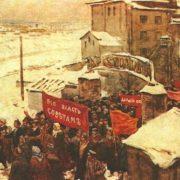 S. Gerasimov. Sketch illustration for the novel of Maxim Gorky 'The Artamonovs' case'. Watercolor. 1946-1954