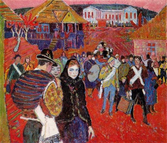 Soviet Moldavian artist Mikhail Greku