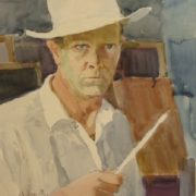 Self-portrait 'I am forty'. 1956