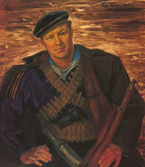 Self-portrait. 1932. Soviet artist Fyodor Bogorodsky