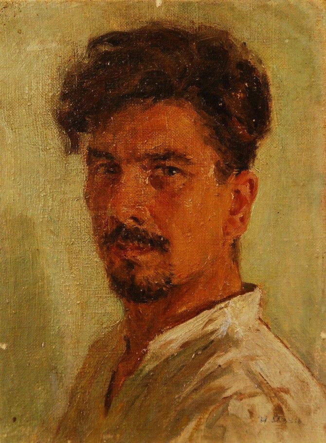 Self-portrait. 1949. Soviet artist Ivan Andreyevich Yazev