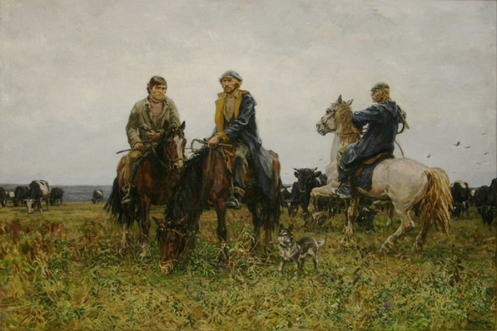 Shepherds. Seasonal workers. 1985