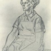 Estonian woman. 1970. Charcoal, sanguine