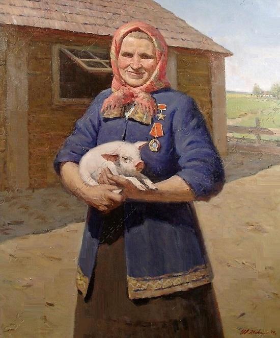 Portrait of T.I. Sizemova. 1949