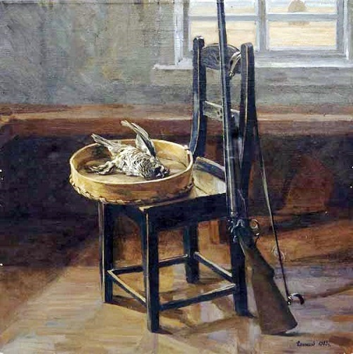 Still life with hazel grouse, 1983