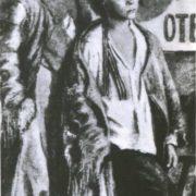 Two Homeless boys. 1925. Oil
