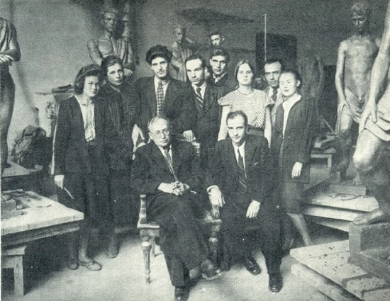 V.A. Sinaisky among his pupils