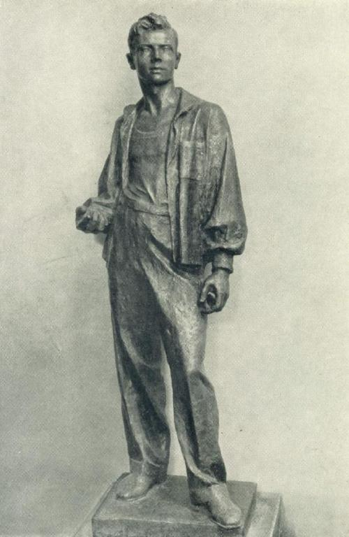 Young worker. 1937. Bronze