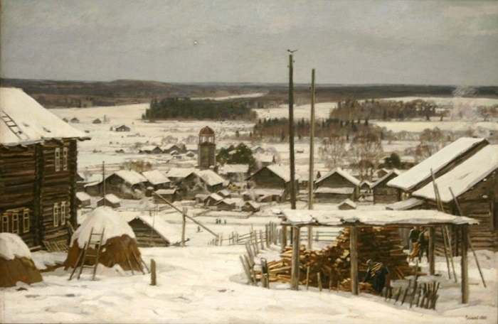 Winter in Andrichev, 1985