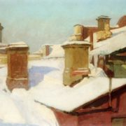 Winter roofs. 1934. TG