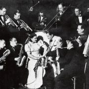 With jazz orchestra