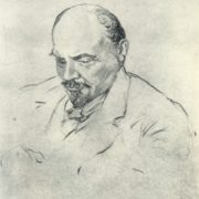 1918 drawing of Lenin