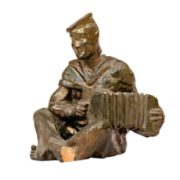 A sailor with a harmonica. 1948-1950. Ceramics