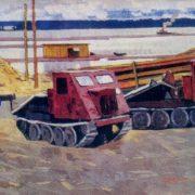 After noon. 1964. Canvas, tempera