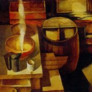 At the old beekeeper's. 1972. Oil on canvas. Art Fund of the Latvian SSR