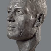 Athlete. 1940. Head. Aluminum, marble. The State Tretyakov Gallery
