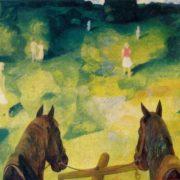 August landscape. 1971. Oil, tempera. Art museum of Estonian SSR, Tallin