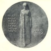 commemorating Latvian poet Janis Poruks. 1930. Bronze. Art Museum of the Latvian SSR