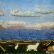 Cape Drovyanoe. 1950s. Canvas, oil. Arkhangelsk Museum of Fine Arts