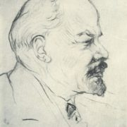 Coal drawing. Lenin. 1918