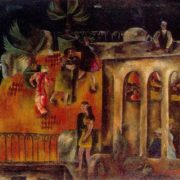 Dances in Gurzuf. 1970. Oil, canvas