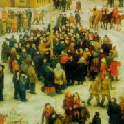 Detail - Farewell to winter. 1973. Oil on canvas. Ministry of Culture of Russia