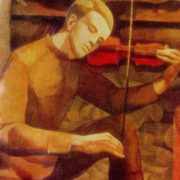 Detail of painting 'A song of a soldier'. 1969