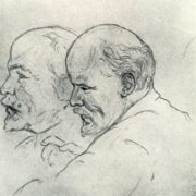 Drawing from life - Lenin. 1918