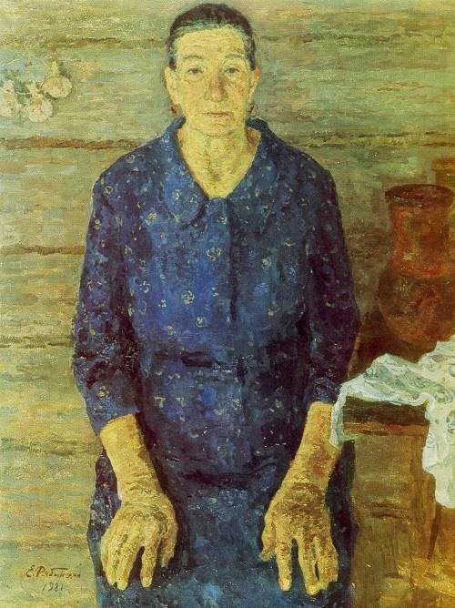 Agafia Fyodorovna. 1981. Oil on canvas