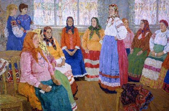 Painting by Soviet artist Yevgeny Ryabinsky (24 June, 1925 - 22 July, 2002)