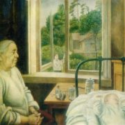 Granny and Nikolka. 1972. Oil on canvas. Exhibition department of the USSR Union of artists