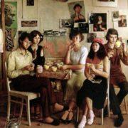 Guests in the artist's studio. 1982