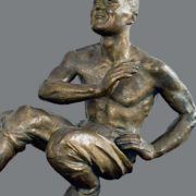 Hopak. 1941. Bronze, pedestal - wood