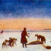In the fishery for the seal. 1959. Oil on canvas. Arkhangelsk Museum of Fine Arts