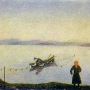 Lake Nekhvatovo. Oil on canvas. Arkhangelsk art museum