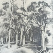 Landscape. Paper, ink, pen. 1977