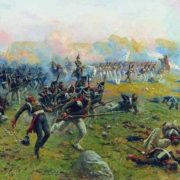 Life Guards Grenadier Regiment in the Battle of Borodino August 26, 1812. 1912-1913