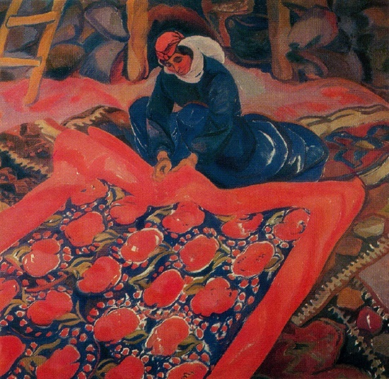 Mother. Oil on canvas. 1970. Directorate of exhibitions of the Union of Artists of the USSR