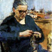 Mother's portrait. 1957
