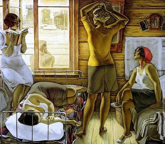 My Mom. Painting by Soviet artist Yuri Mikhailovich Raksha (December 2, 1937 - September 1, 1980)